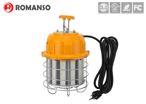 Aluminum Cage & 10 Ft Power Cord LED Temporary Work Lights 60W 100W 150W